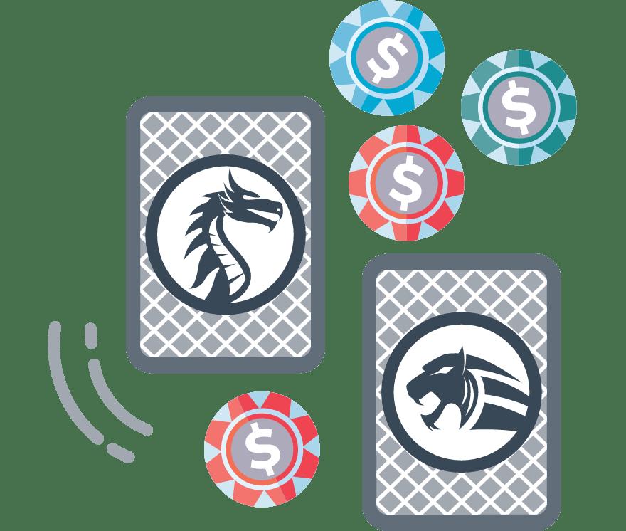 Dragon Tiger adalah permainan kartu kasino populer yang berasal dari Asia, yang telah membuatnya menjadi rumah permainan di seluruh dunia. Pemain menempatkan taruhan di mana tangan akan memberikan pengembalian tertinggi ketika dua kartu dibagikan menghadap ke atas. Jika dasi terjadi, rumah membutuhkan setengah dari taruhan.